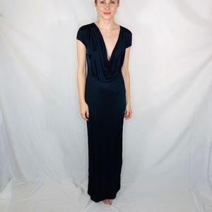 Susana Monaco Blue Slinky Maxi Dress Cocktail 4